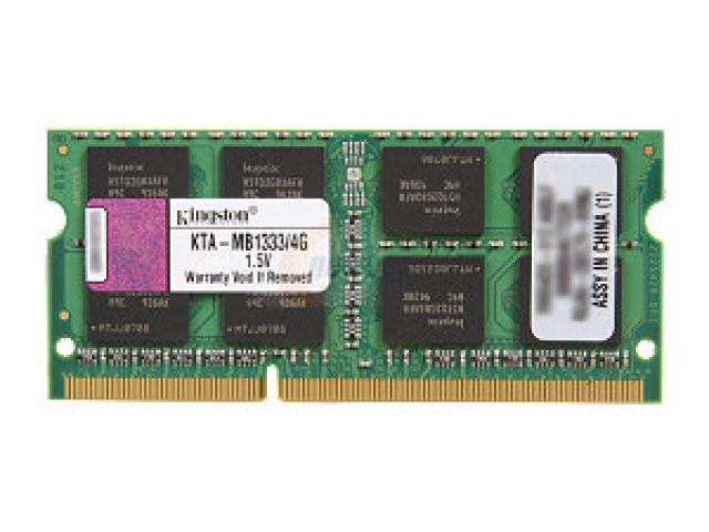 Kingston 4GB 1333MHz DDR3 SODIMM Memory for Apple Laptops KTA-MB1333S//4G
